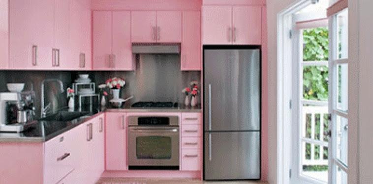Dekorasi Desain Dapur Nuansa Pink Terbaru