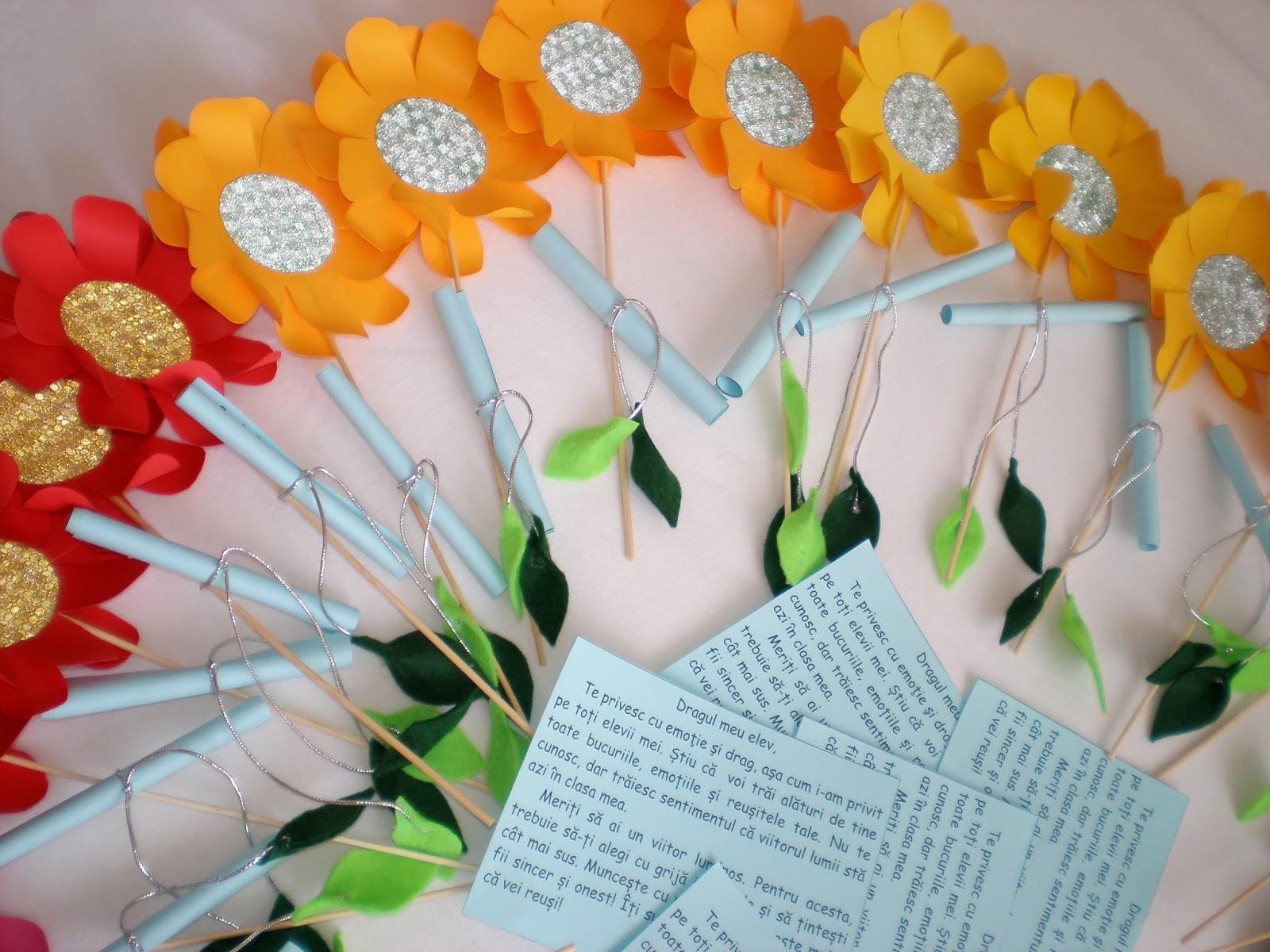 Prima zi de școală- Flori și mesaje motivaționale