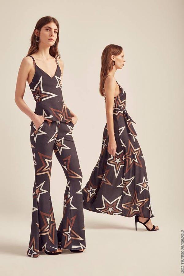 Full print primavera verano 2019 ropa de mujer. Moda mujer verano 2019 vestidos, tops y pantalones.