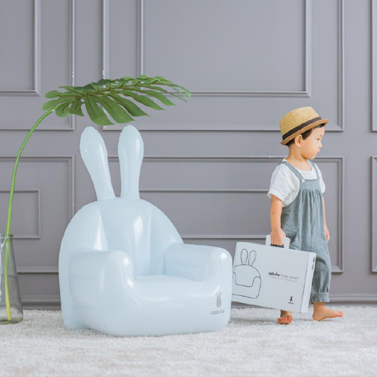 Fun Inflatable Bunny Shaped Chair Ideal For Kid's Room