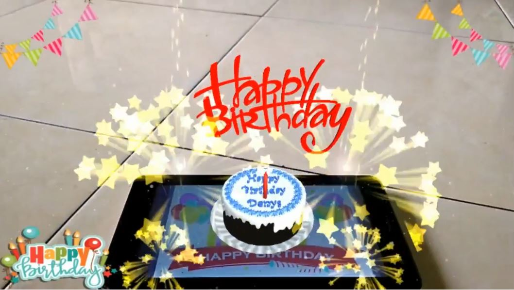 Augmented Reality Birthday Gift Card App