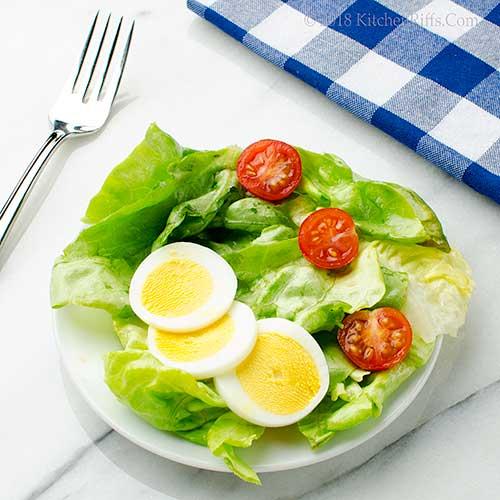 Hot-Buttered Butter Lettuce Salad
