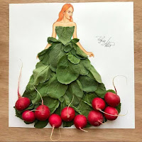 Arte con collage de comida - rabanitos
