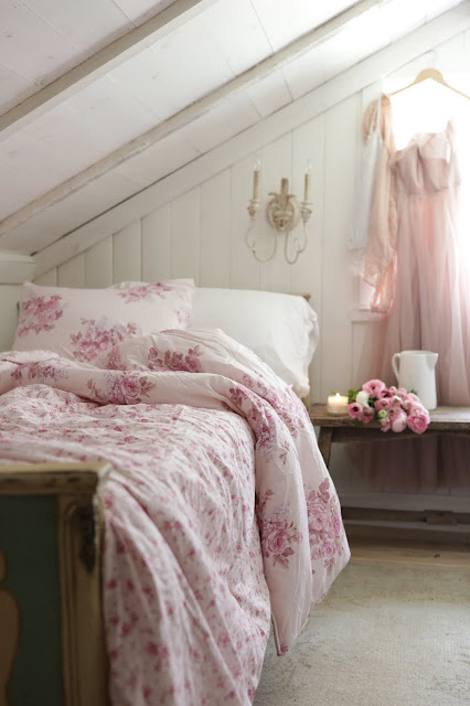 Summer Florals in the attic