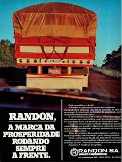 propaganda carrocerias Randon - 1976,Randon S. A. Veículos e Implementos, Carrocerias Randon anos 70, Randon década de 70, Oswaldo Hernandez, caminhão anos 70,