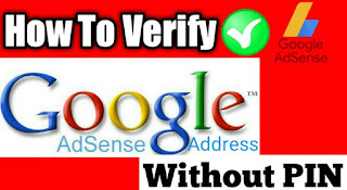 Google Adsense Address Verify without Pin