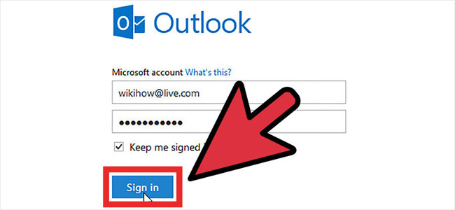 Sign Into Hotmail account