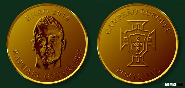 Meme com Medalha Comemorativa da Conquista do Euro 2016 pela Seleção Nacional de Portugal – Raphael Guerreiro