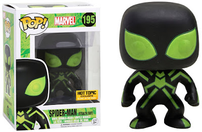 Hot Topic Exclusive Stealth Suit Spider-Man Pop! Marvel Glow in the Dark Vinyl Figure by Funko