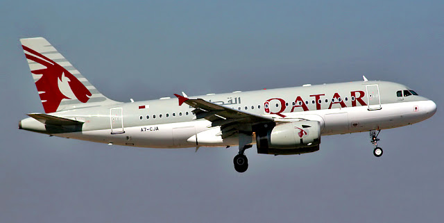 Image Attribute: Airbus A319-133LR of Qatar Airways (A7-CJA) / Source: Wikipedia