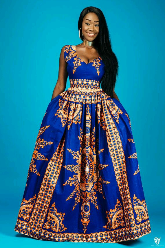 Check Out These Lovely Maxi Dresses Best African Slit Print Design African Fashion Ankara