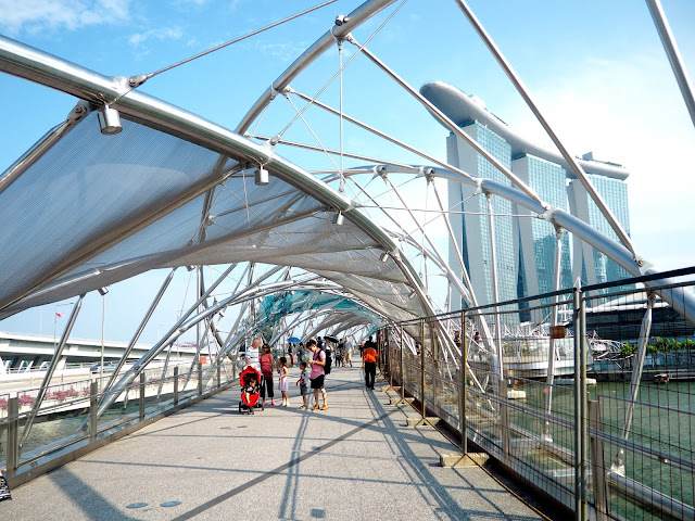 Double helix bridge to Marina Bay Sands, Singapore