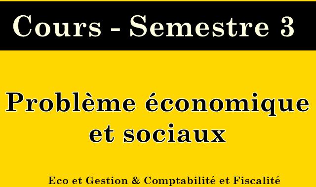Cours Problème économique et sociaux