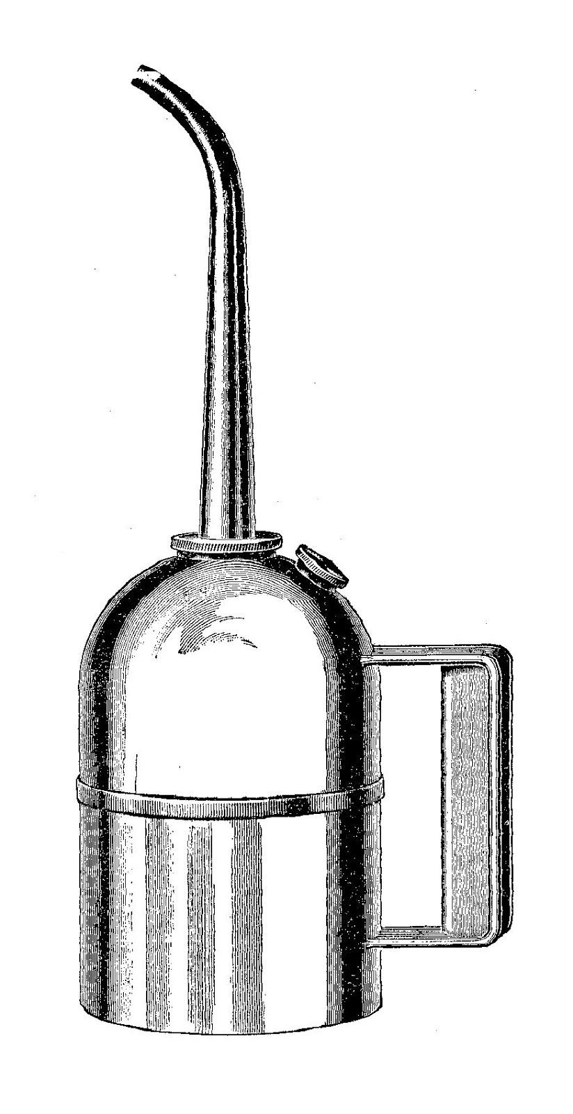 Digital Stamp Design: Vintage Oil Can Image Machine