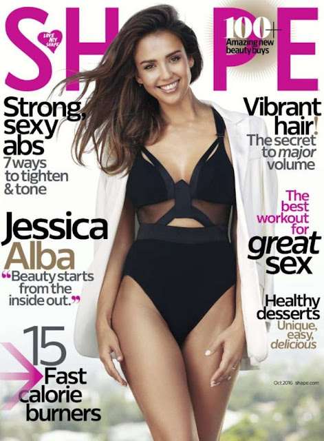 Actress, Model, @ Jessica Alba - Shape Magazine October 2016