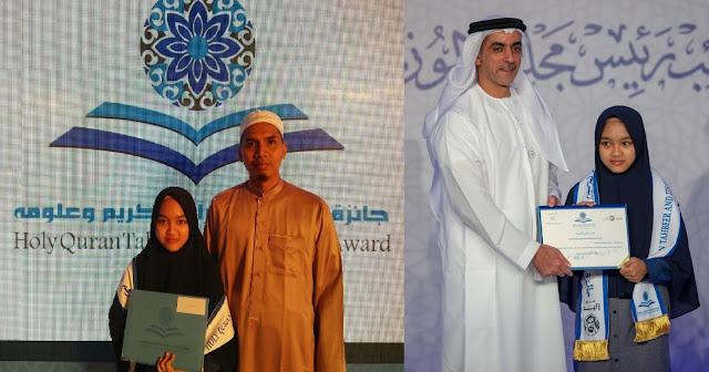 Alhamdulillah, Gadis Jampang Juara 3 MTQ Dunia di Uni Emirat Arab