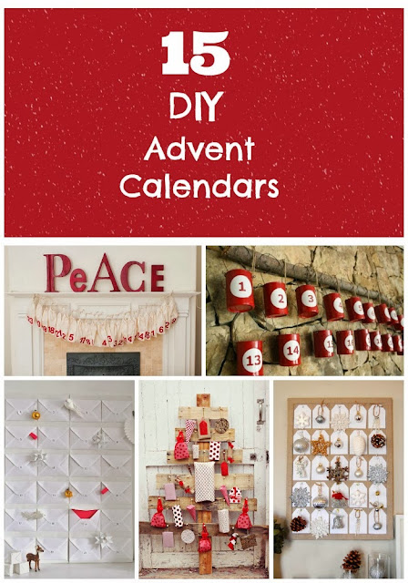 15 great DIY Advent Calendars. I love the tin can one, so easy and cheap to make! #advent #DIY #christmas