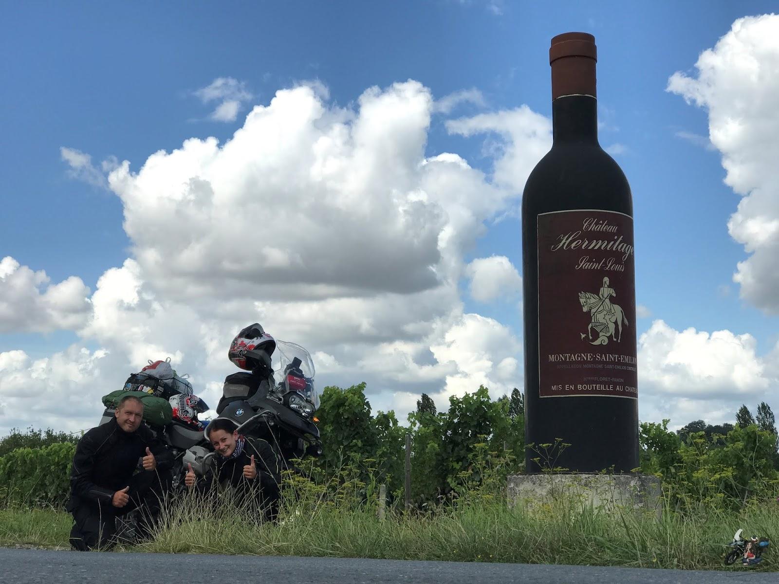Francuskie zagłębie wina wpisane na listę UNESCO: Saint-Émilion koło Bordeaux - MOTO EURO TRIP 2017: Z UK NA GIBRALTAR - DZIEŃ 14
