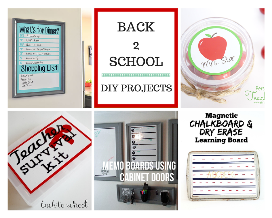 5 Simple Back to School Projects  #backtoschool
