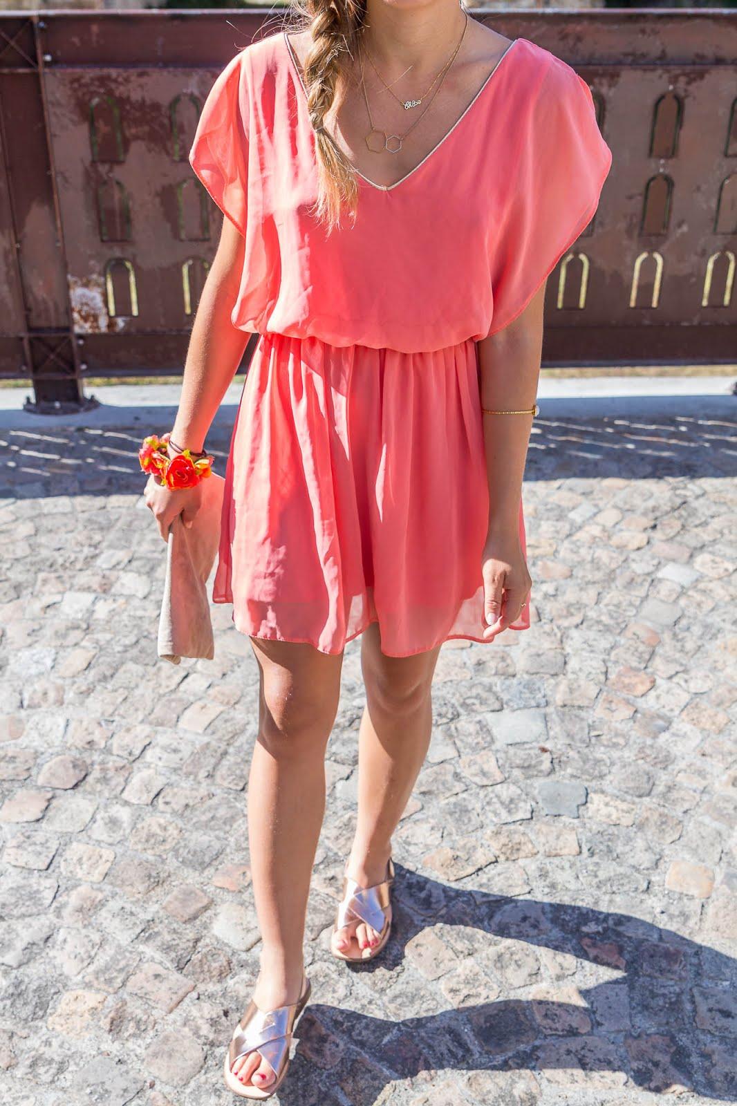 robe corail été
