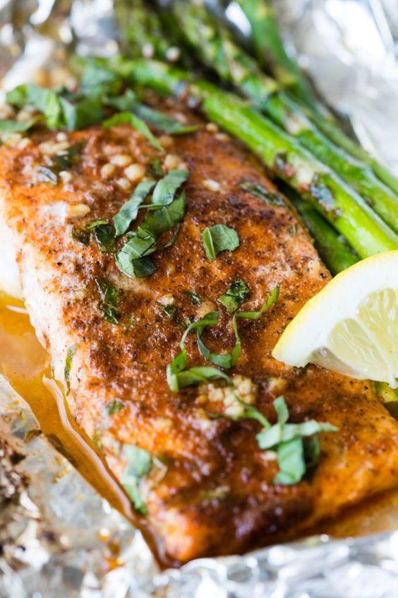 Asparagus Salmon Foil Packets