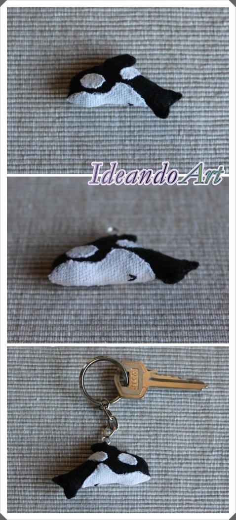 Orca de fieltro handmade