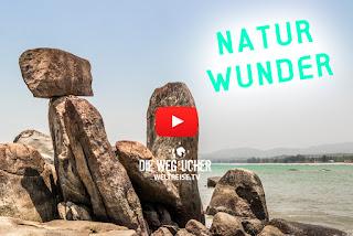 Bizarre Felsformationen am Agonda Beach, Goa, Indien, Weltreise Arkadij Schell, WELTREISE.TV