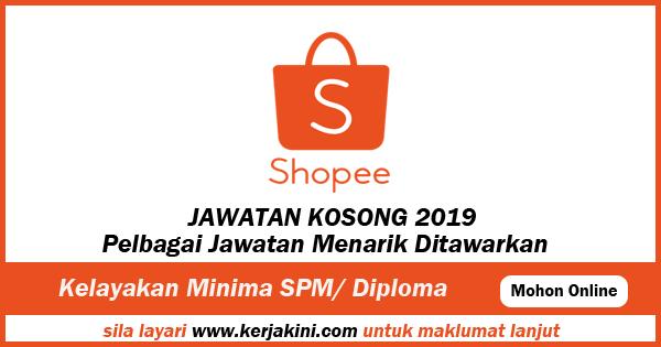 Jawatan Kosong 2019 Shopee Malaysia