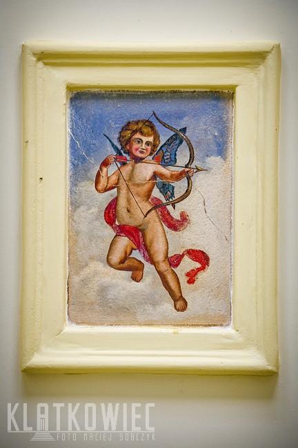 Słupsk: malowidło z kupidynem