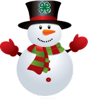 snowman with clover
