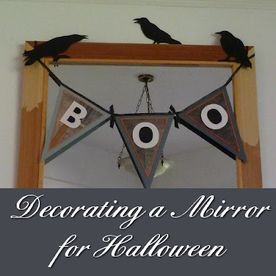 Decorating a mirror for Halloween ideas inspiration crafts