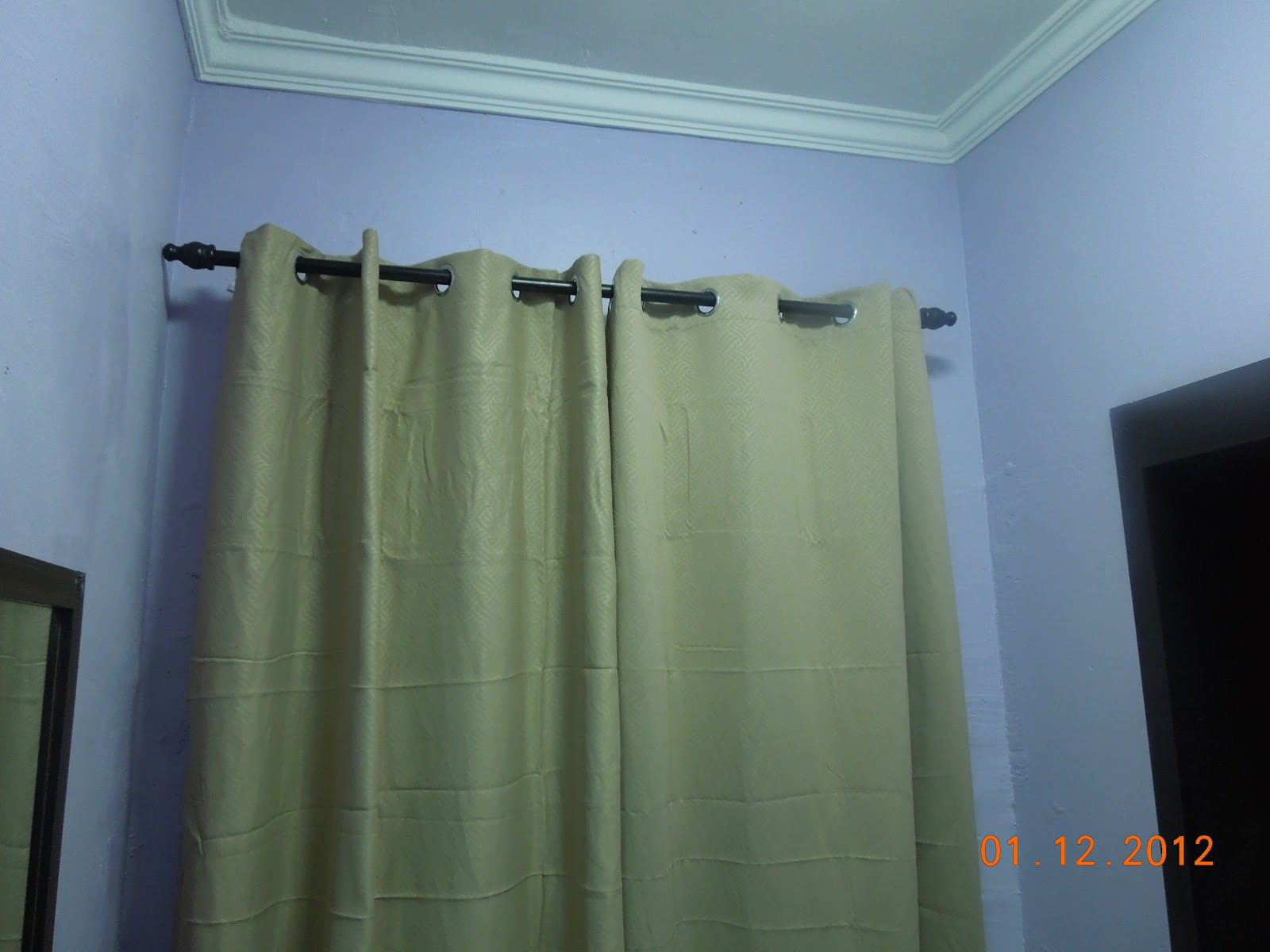 Again Kain Langsir Readymade From Tesco Untuk Master Bedroom Abaikan Kekedutan Melampau Kerana Saya Adalah Pemalas Nak Iron