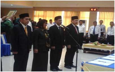 Walikota Batam Lantik Empat Jabatan Tinggi Pratama Batam