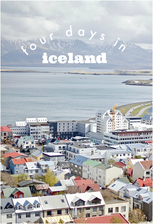 four days traveling in iceland
