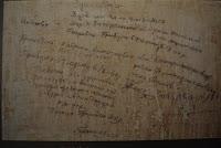 Inscripciones prisioneros prisión Gestapo en Colonia