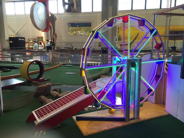 Ferris wheel mini golf hole at Can Can Wonderland in St. Paul, Minnesota
