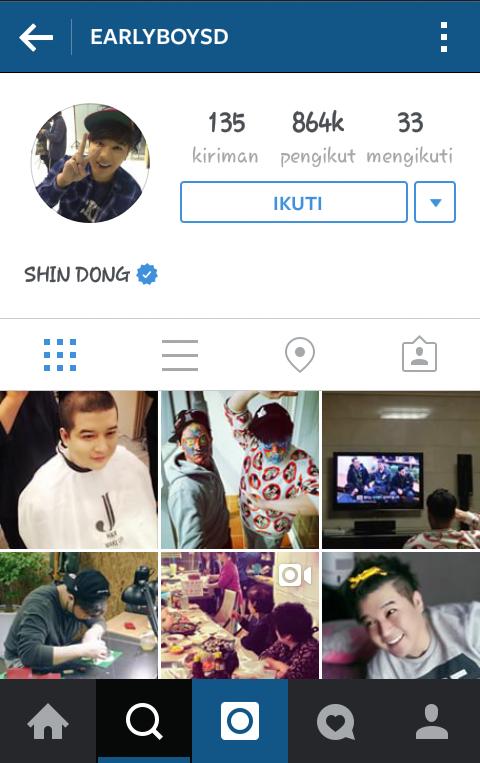 gambar nama akun account instagram shindong suju