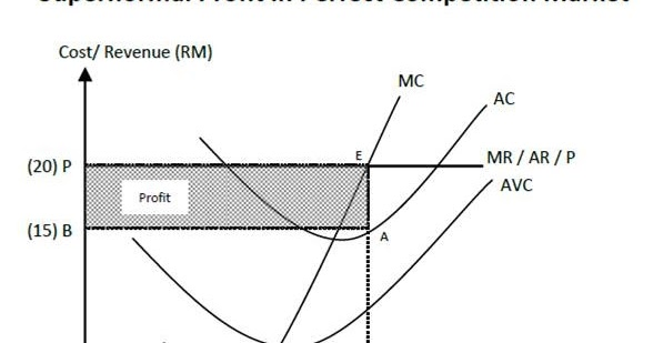 Profit in Perfect Competition Market ~ Economics