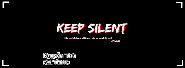 Share psd ảnh bìa facebook KEEP SILENT cực chất