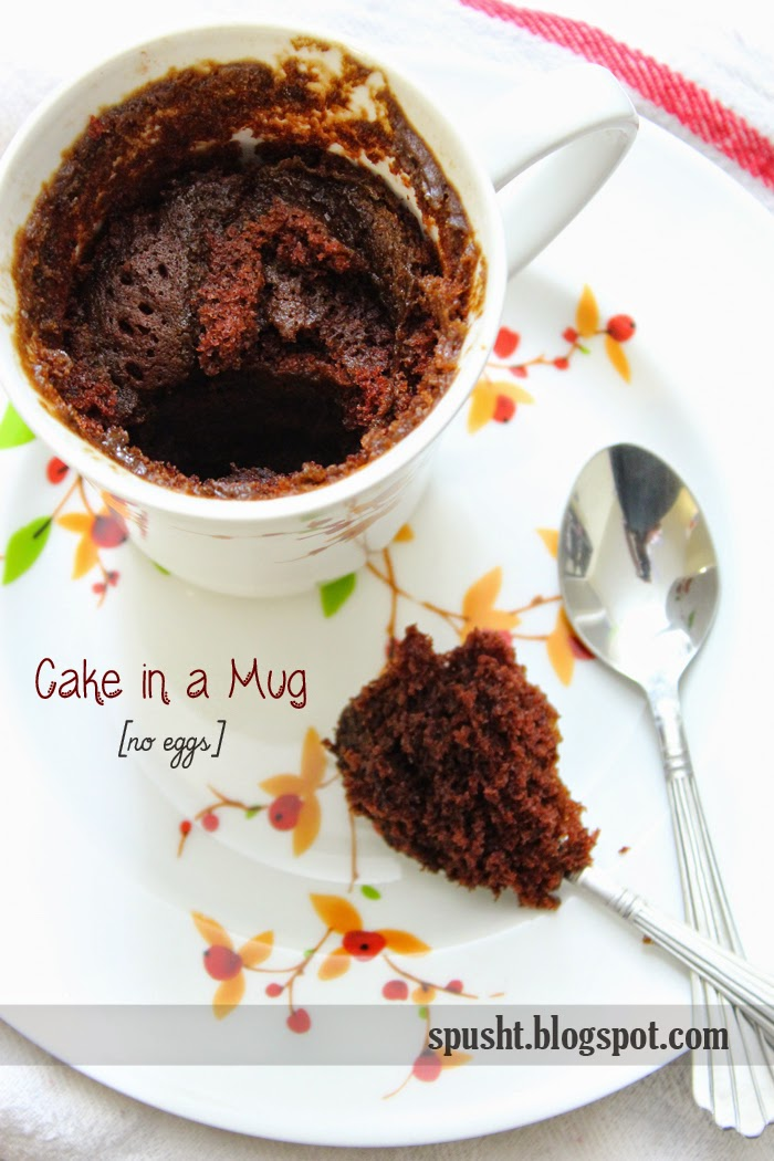 Spusht: Two-Minute Microwave Eggless Chocolate Cake ...