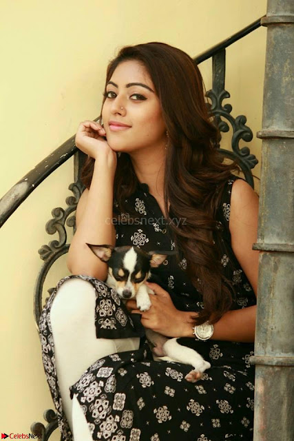 Anu Emmanuel with her pet dog cute pics 5.jpg
