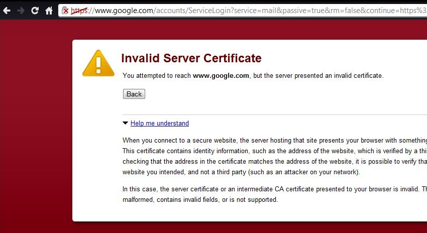 Guifre\u0027s Blog Iranian Google Users Attacked with False Certificate