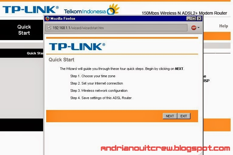 cara setting ulang modem speedy tplink adsl + wifi 2