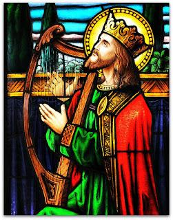 Senhor tocando harpa - Igreja São João, São João do Polêsine (RS)