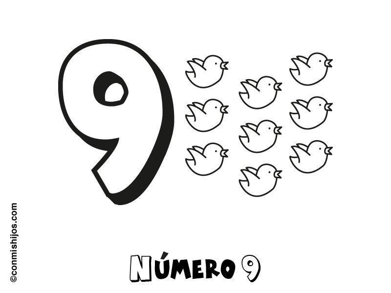 Los numeros - Dibujos para colorear | Ciclo Escolar