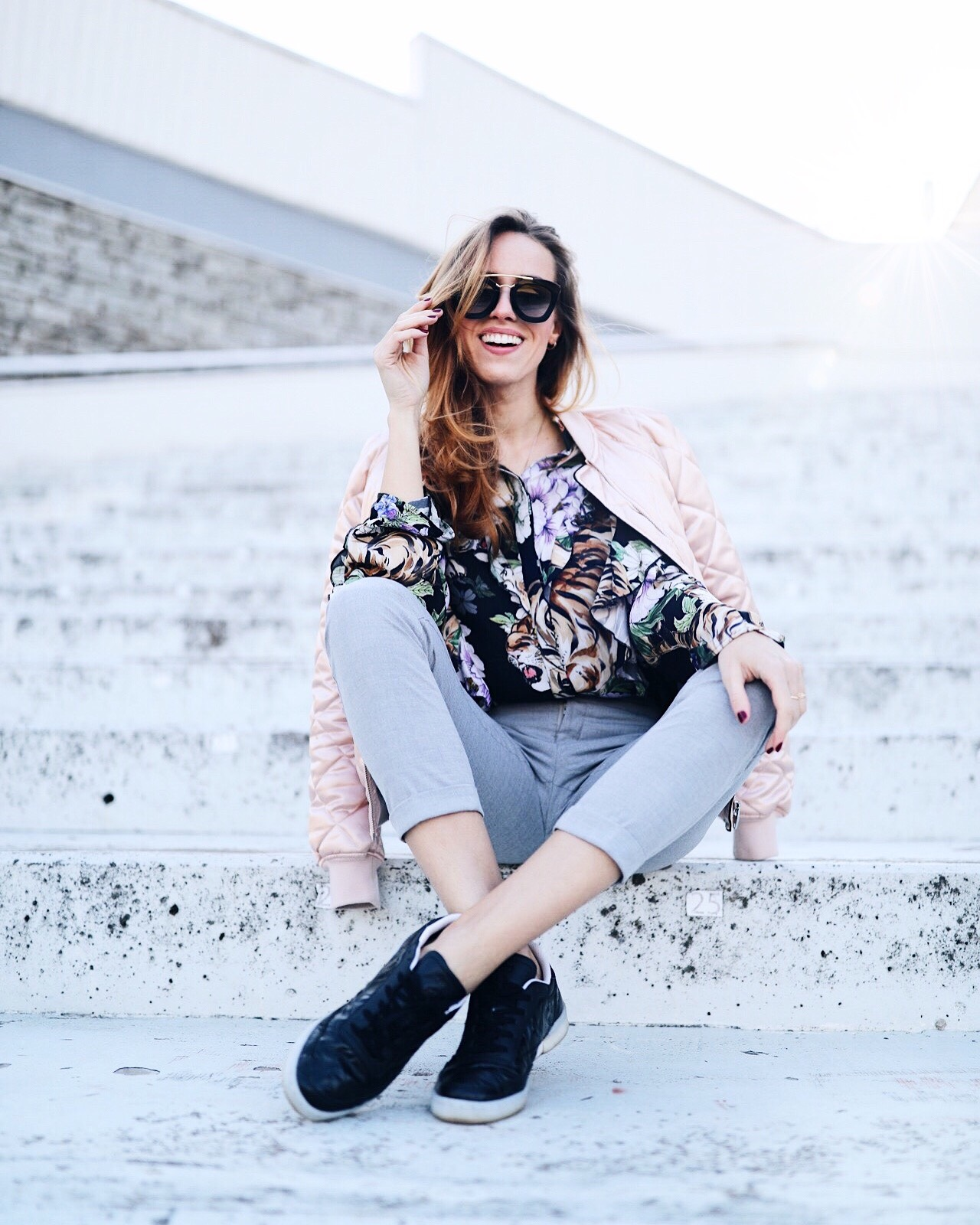 ruffle blouse casual outfit