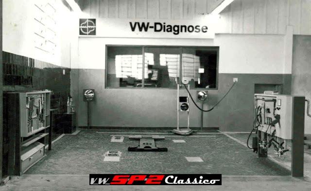 Box Volkswagen Diagnose em uma consecionária