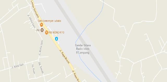 Jarak Bandara Reden Intan ke Krui Pesisir