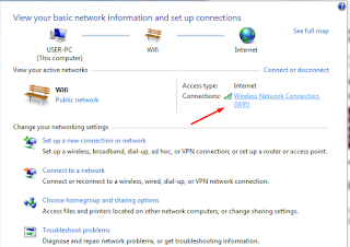 klik network yang anda gunakan