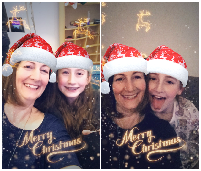 Stephs Two Girls in Christmas filters